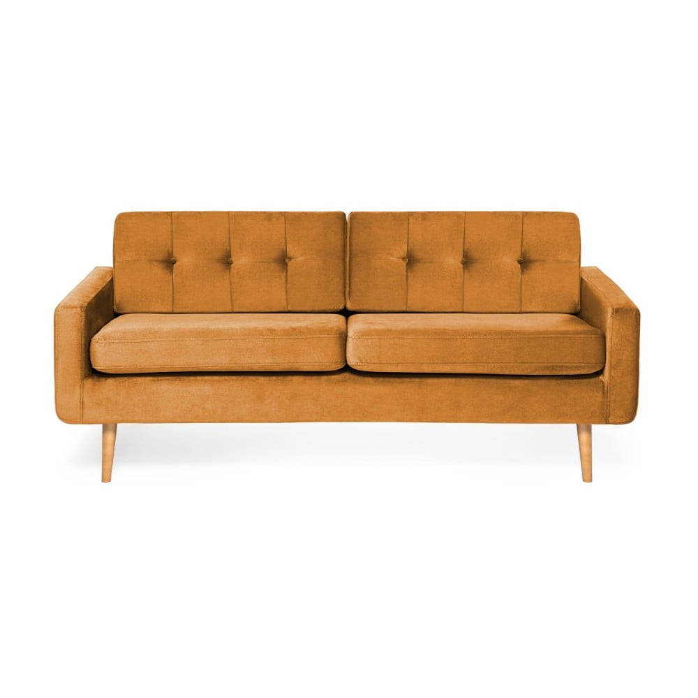 Musztardowa sofa 3-osobowa Vivonita Ina Trend