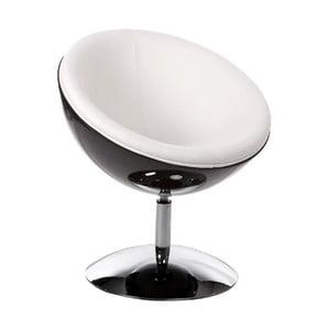 Biało-czarny fotel obrotowy Kokoon Sphere