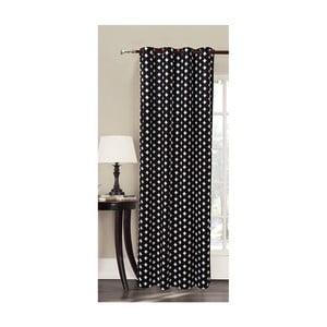 Czarna zasłona we wzory z mikrowłókna DecoKing Harmony, 140x245 cm