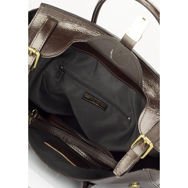Ciemnobrązowa torebka skórzana Lisa Minardi Pomona