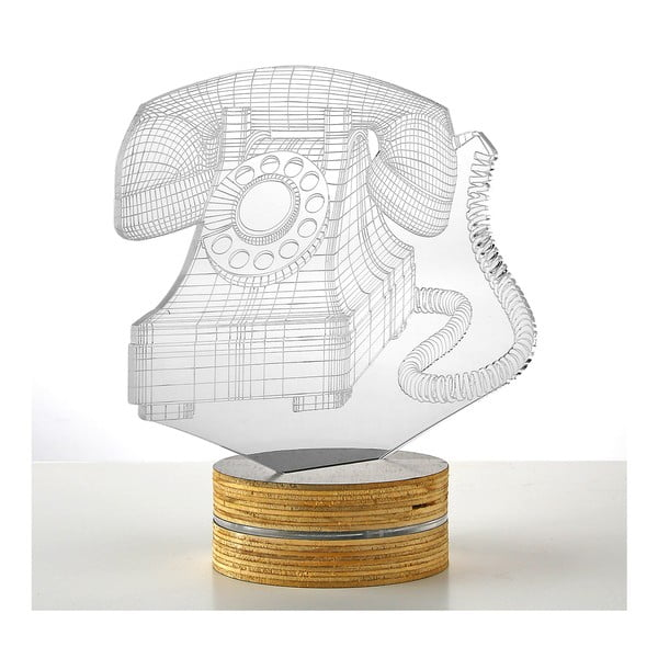 Lampa 3D stołowa Old Phone