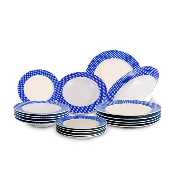 Komplet 18 talerzy i tacy Vajilla Azul