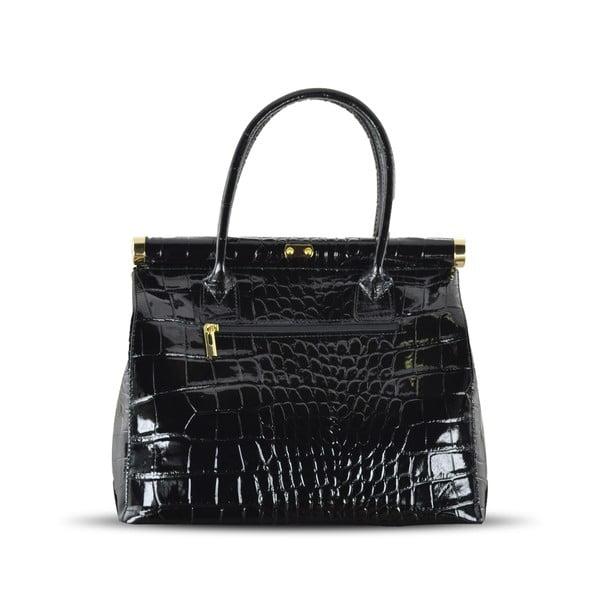 Skórzana torebka Justine, czarna