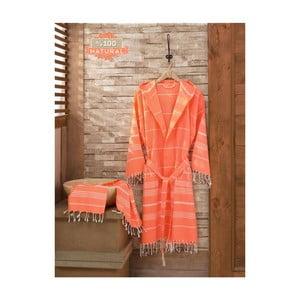 Zestaw szlafrok i ręcznik Sultan Coral, L/XL