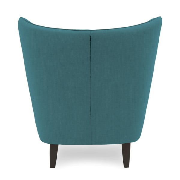 Turkusowy fotel z ciemnymi nogami Vivonita Sandy