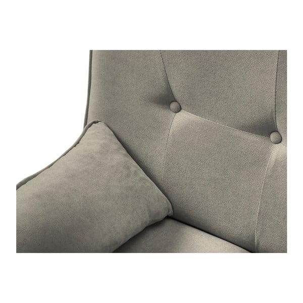 Szarobeżowa rozkładana regulowana sofa 3-osobowa Kooko Home Musique