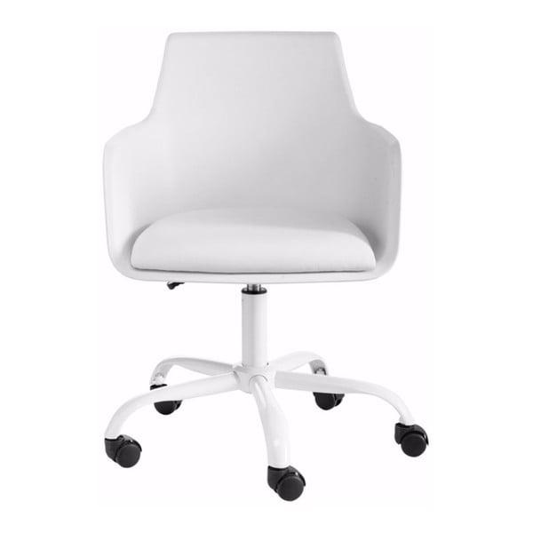Biały regulowany fotel biurowy Støraa Leslie
