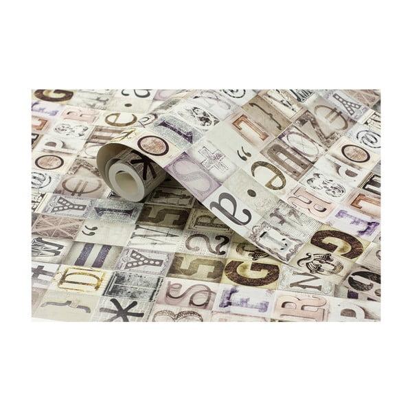 Rolka tapety Typografia, 53x1005 cm