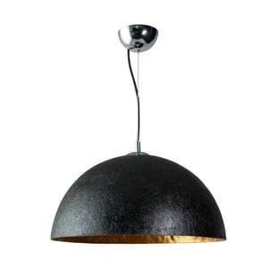 Czarno-złota lampa wisząca ETH Mezzo Tondo, ⌀ 50 cm
