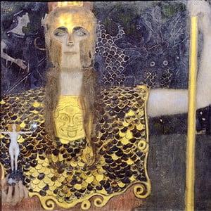 Reprodukcja obrazu Gustava Klimta - Pallas Athene, 40x40 cm