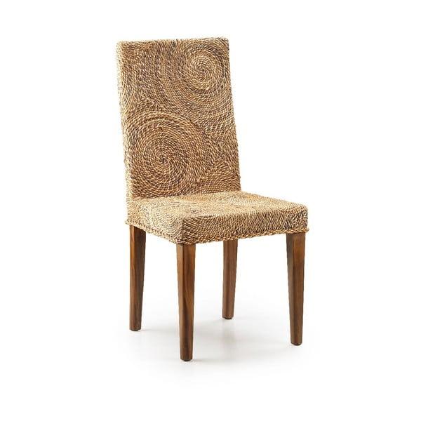 Krzesło rattanowe z konstrukcją z drewna Moycor Banana