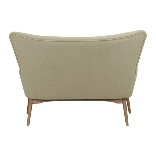 Beżowa sofa 2-osobowa Helga Interiors Karl
