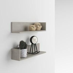 Zestaw 2 półek z dekorem betonu MobiliFiver Menaci