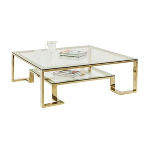 Szklany stolik Kare Design Gold Rush