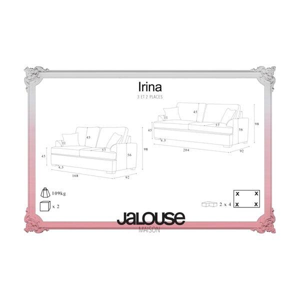 Dwuczęściowy komplet wypoczynkowy Jalouse Maison Irina, różowy
