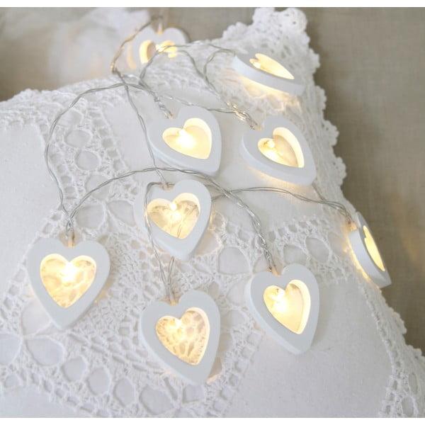 Girlanda świetlna Hearts 135 cm, biała