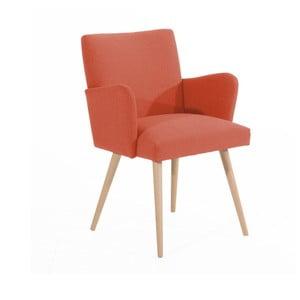 Ciemnoczerwony fotel Max Winzer Albert