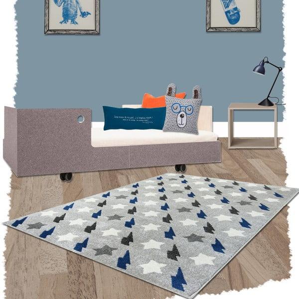 Niebieski dywan dziecięcy Nattiot Bolt, 120x170 cm