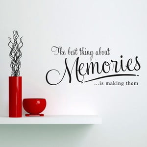 Naklejka dekoracyjna Memories, 31x72 cm
