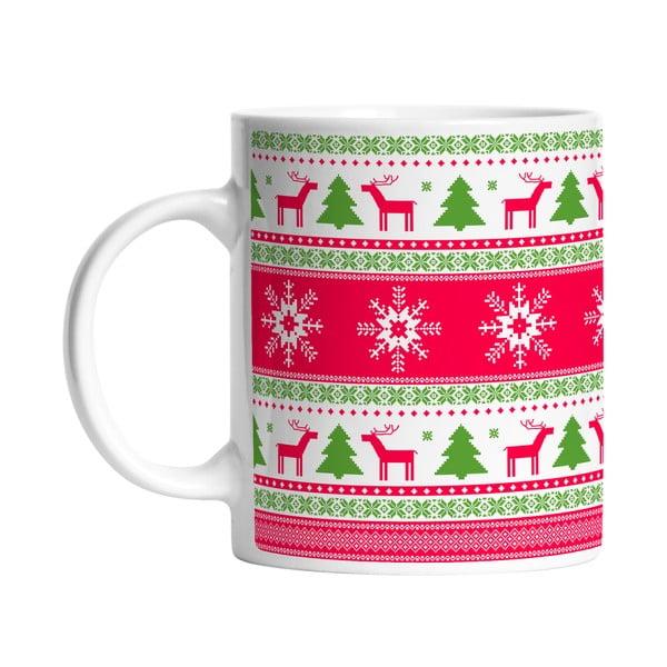 Ceramiczny kubek Christmas Paper, 330 ml