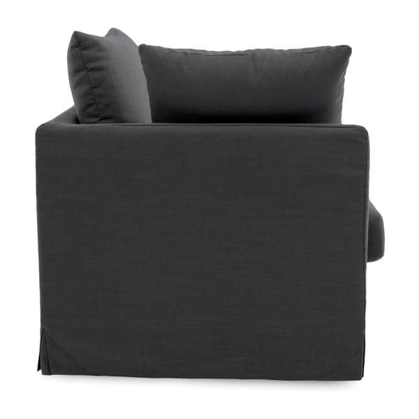 Ciemnoszara sofa trzyosobowa Vivonita Coraly Dark Grey