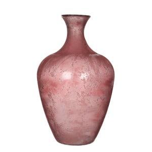Różowy wazon szklany Mica Olivier, 65x40cm