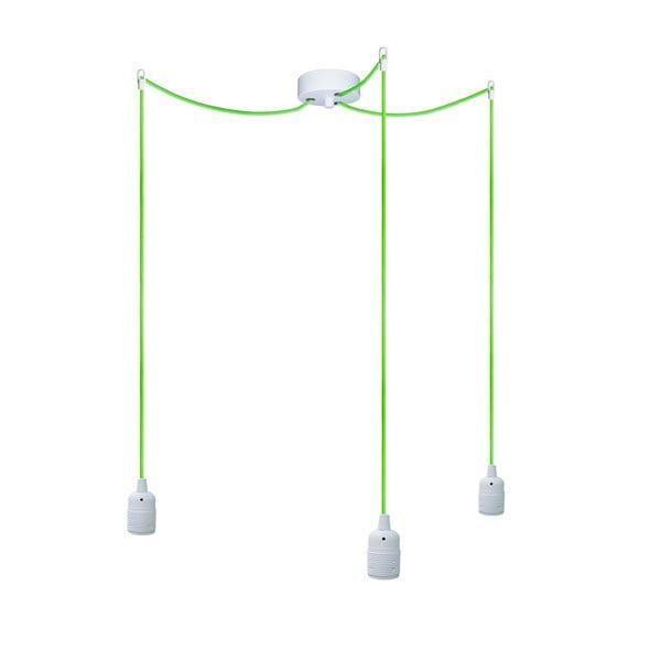 Trzy wiszące kable Uno, zielony/biały