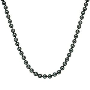Perłowy naszyjnik Muschel, zielone perły 8 mm, długość 50 cm