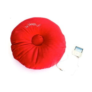 Poduszka z wbudowanym głośnikiem hi-Sleep, czerwona