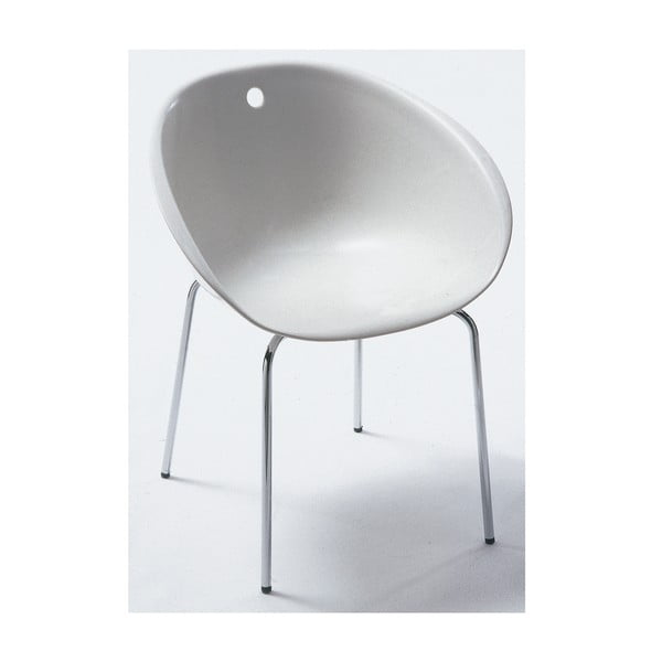 Białe krzesło Pedrali Gliss