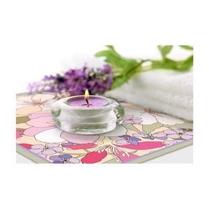 Zestaw 2 mat stołowych Purple Flowers, 20x20 cm
