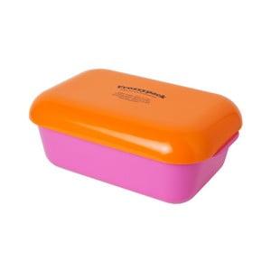 Pojemnik z wkładem chłodzącym Frozzypack Summer Edition, cerise/orange