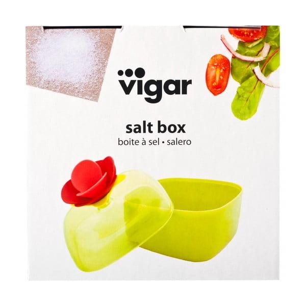 Zielony pojemnik na sól Vigar Rose