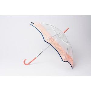Parasol Alvarez Vichy Transparent Orange
