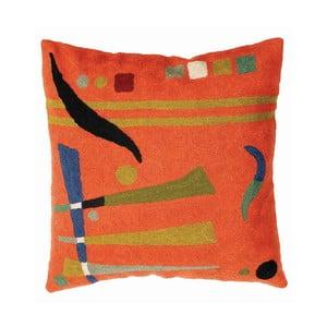 Poszewka na poduszkę Orange Abstract, 45x45 cm