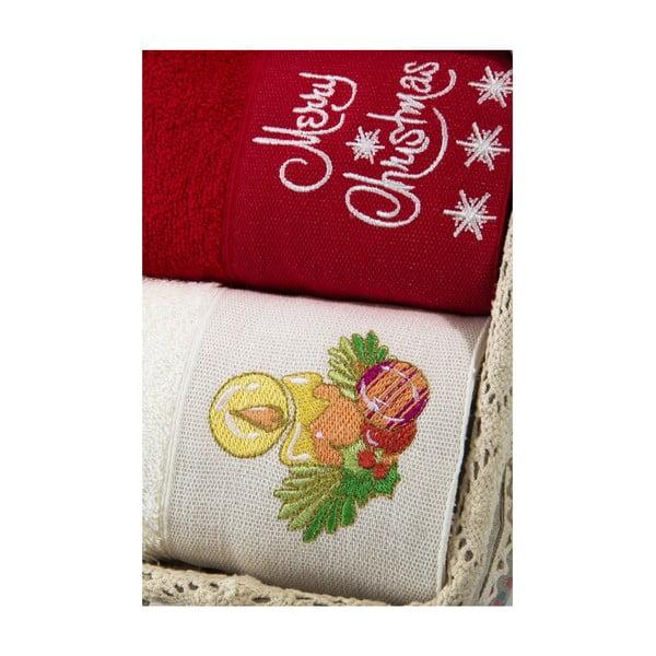 Zestaw 2 ręczników Xmas V13, 40x60 cm