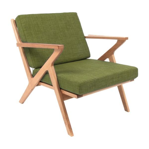 Fotel Present Time Rest Oak Moss Green