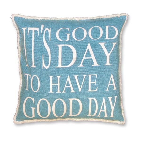 Poduszka Good Day 45x45 cm, niebieska