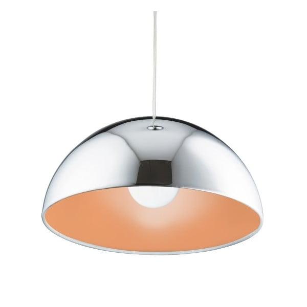Lampa wisząca Searchlight Domas, chromowana/pomarańczowa