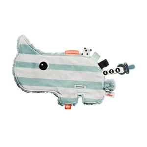 Niebiesko-biała zabawka edukacyjna z bawełny Done by Deer Cozy Ozzo