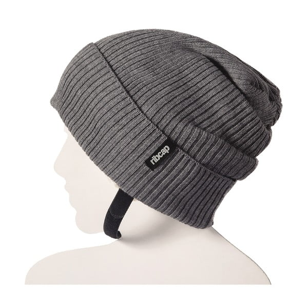 Szara czapka ochronna Ribcap Lenny, S