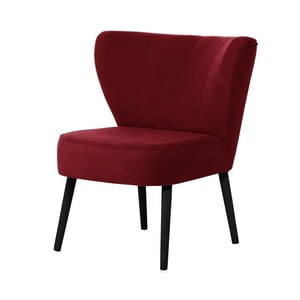 Czerwony fotel z czarnymi nogami My Pop Design Hamilton