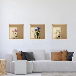 Zestaw 3 naklejek 3D Ambiance Orchids