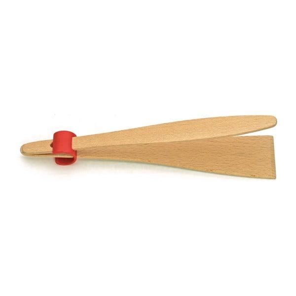 Drewniane szczypce do mięsa Tongue Beech, 25 cm