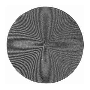Szara okrągła mata stołowa Tiseco Home Studio Round Chambray, ø 38 cm