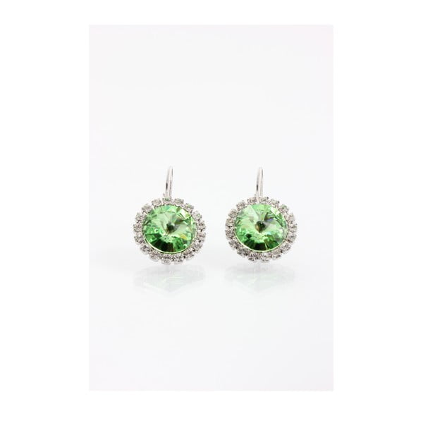 Kolczyki Laura Bruni ze Swarovski Elements Green, 16 mm
