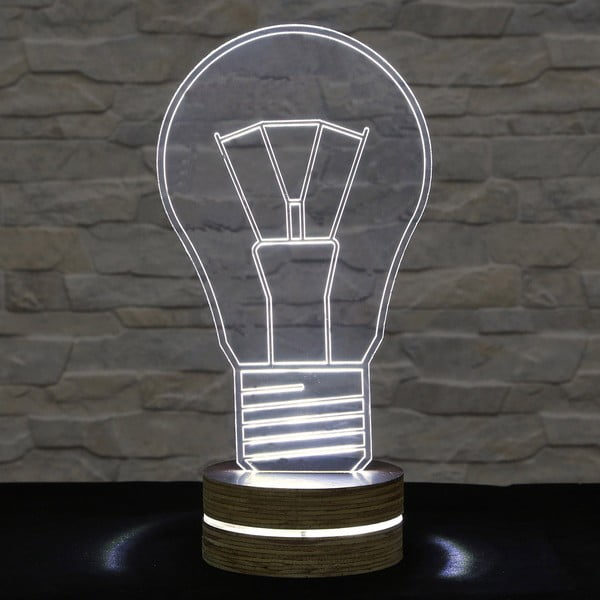 Lampa 3D stołowa Bulb