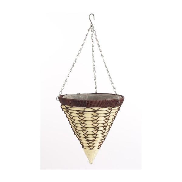 Podwieszana rattanowa doniczka Cone Luxury