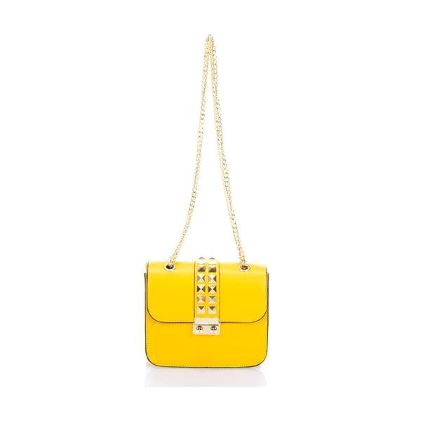 Żółta torebka skórzana Giulia Massari Skata