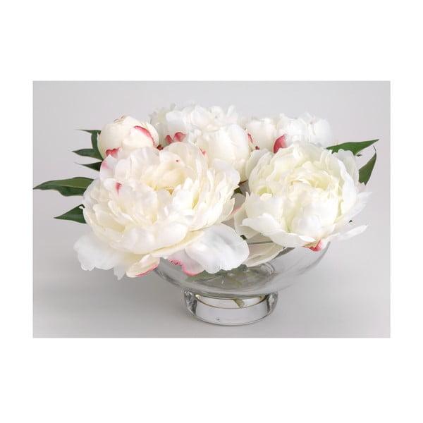 Sztuczne kwiaty w wazonie Peony White